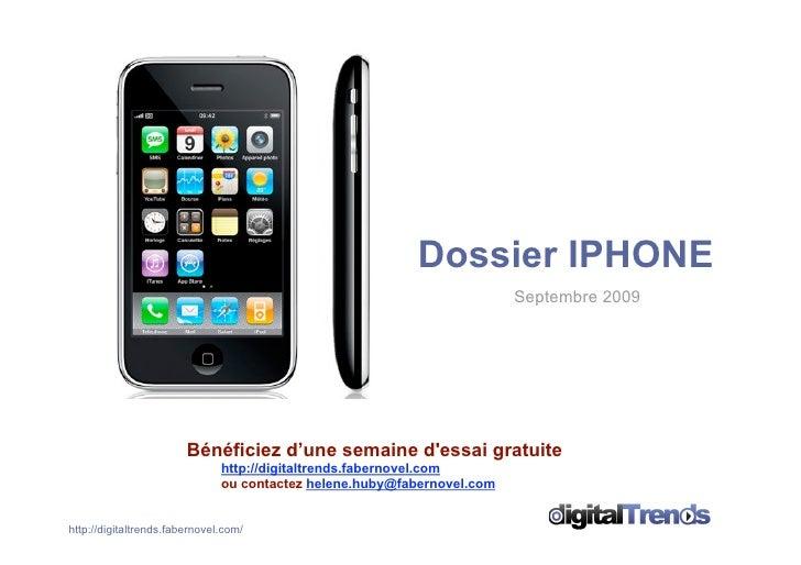 Dossier IPHONE                                                                          Septembre 2009                    ...