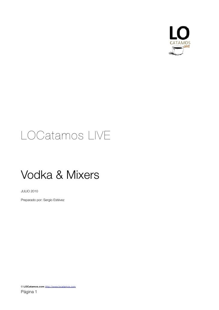 Dossier lcl vodkas and mixers
