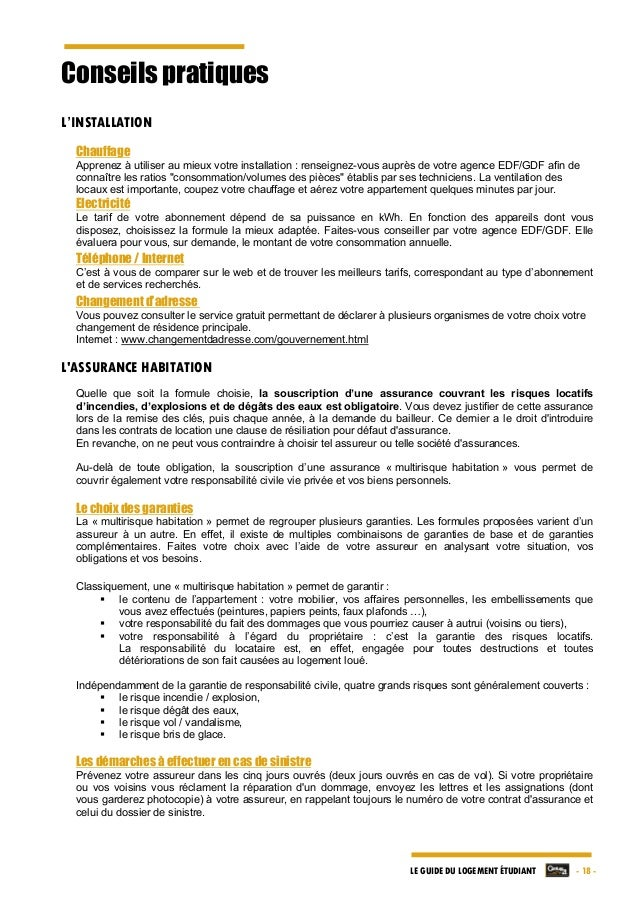 Le guide du logement etudiant par century 21 edition 2014 2015 - Rupture contrat de location par le proprietaire ...