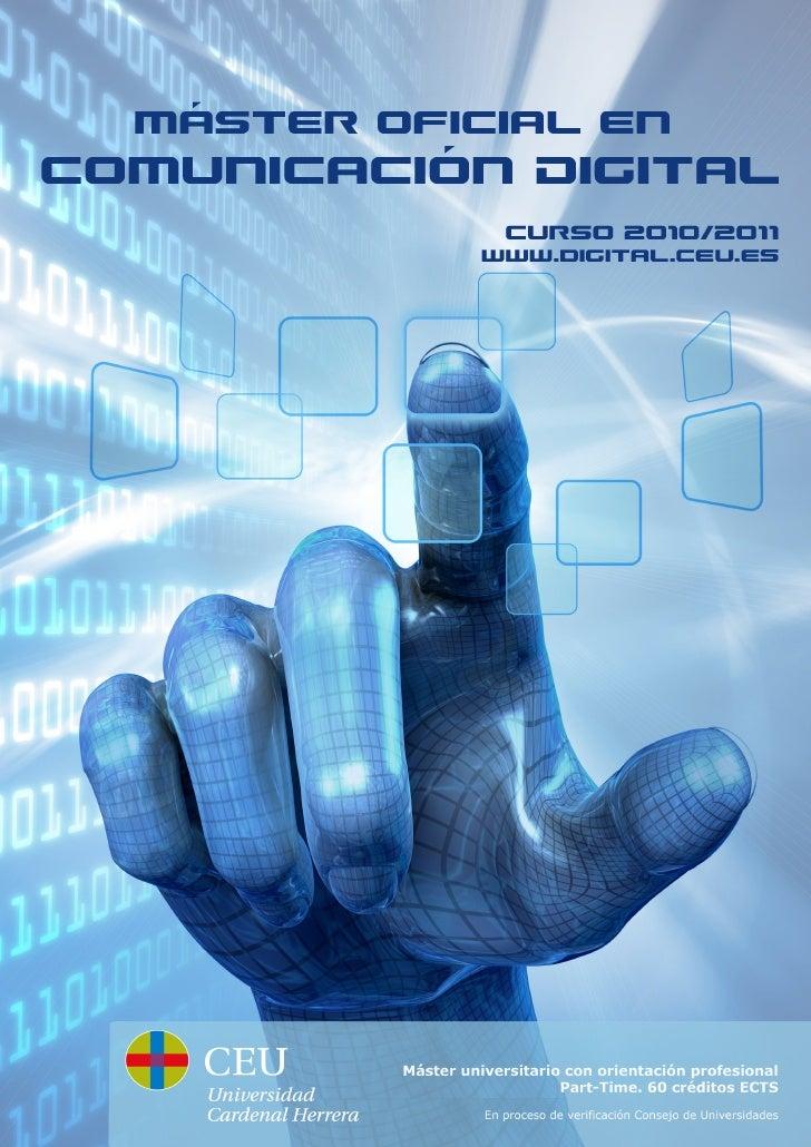 Dossier Máster Comunicación Digital