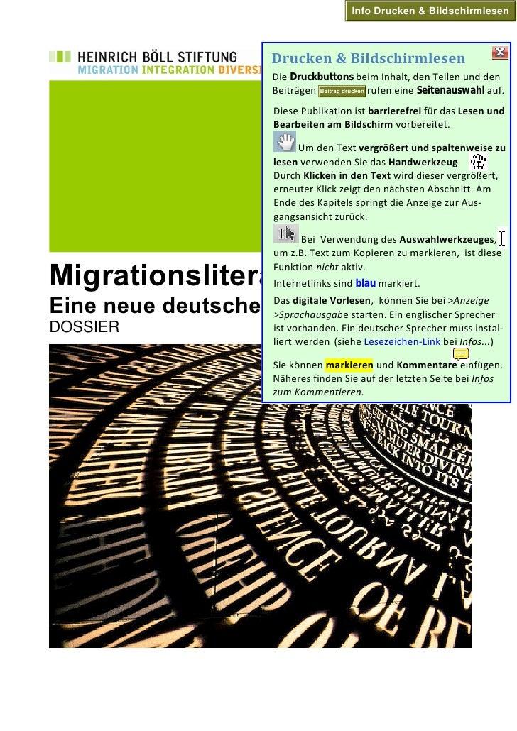 Dossier: Migrationsliteratur - Eine neue deutsche Literatur?