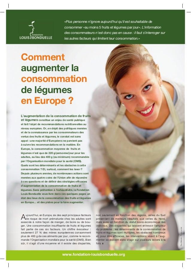 Comment augmenter la consommation de légumes en Europe ?