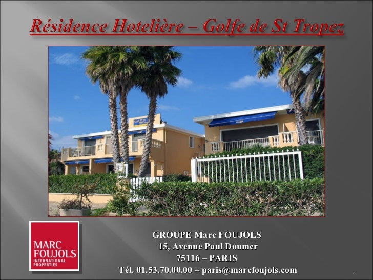 RESIDENCE HOTELIERE A VENDRE ST TROPEZ