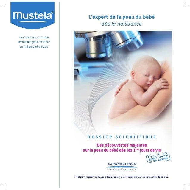 Formulé sous contrôle dermatologique et testé en milieu pédiatrique L'expert de la peau du bébé dès la naissance Mustela®,...