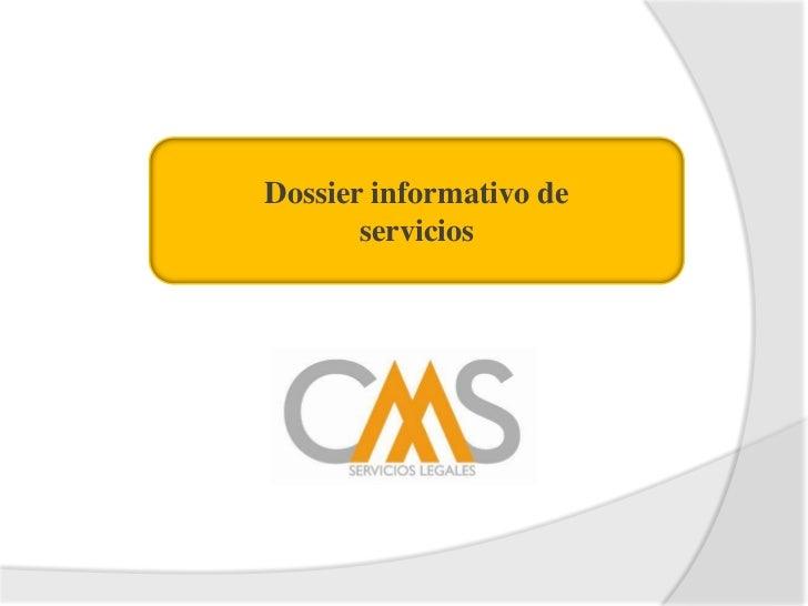 Dossier informativo de <br />servicios<br />