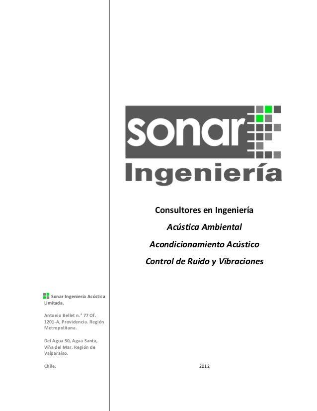 Consultores en Ingeniería                                    Acústica Ambiental                                Acondiciona...