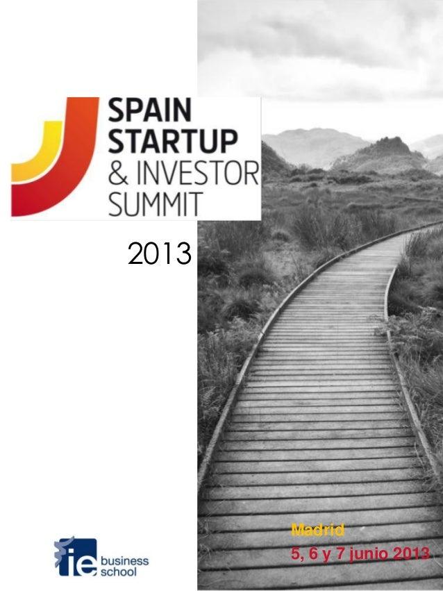 2013       Madrid       5, 6 y 7 junio 2013
