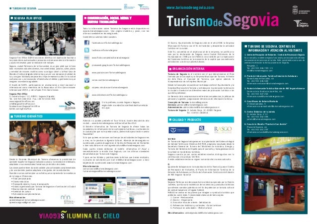 Dossier turismo de segovia 2012