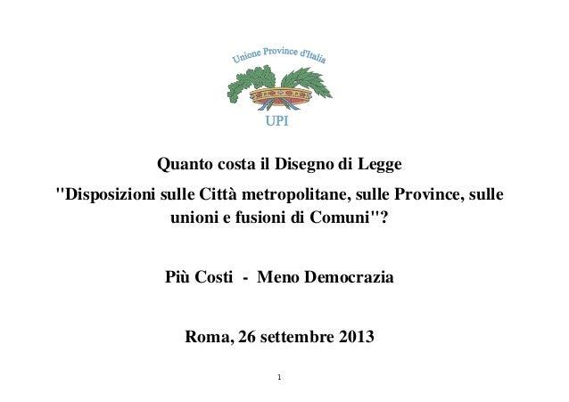 Riordino province: dossier UPI  ovvero +costi-democrazia