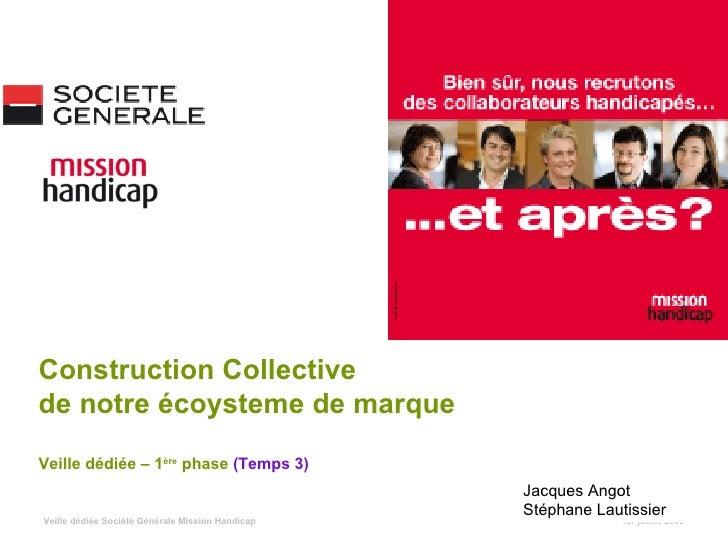 1er juillet 2009 Construction Collective  de notre écoysteme de marque Veille dédiée – 1 ère  phase  (Temps 3) Jacques Ang...