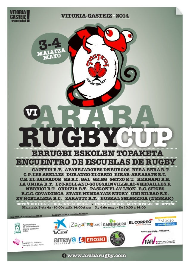 Dossier VI Araba Rugby Cup'2014