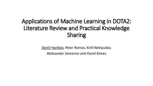 dota 2 machine learning