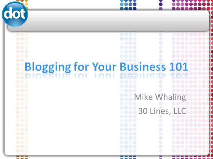 Blogging for Your Business 101: Doterati Social Media Breakfast