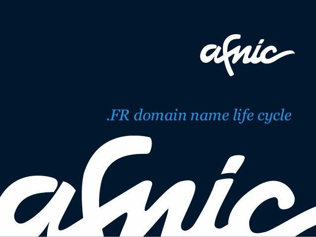 .FR domain name life cycle