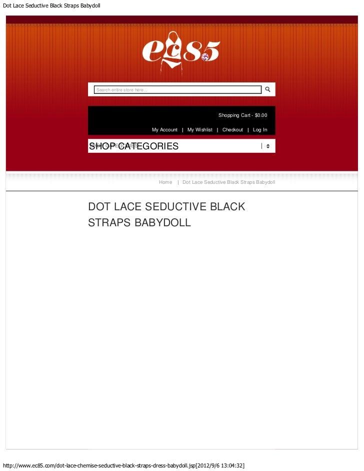 Dot Lace Seductive Black Straps Babydoll                                      Search entire store here...                 ...
