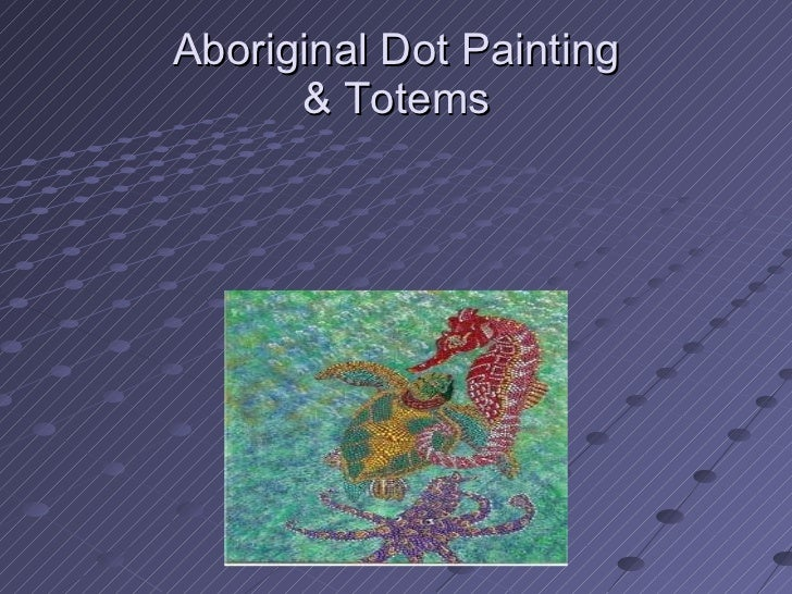 Dot painting aborigines