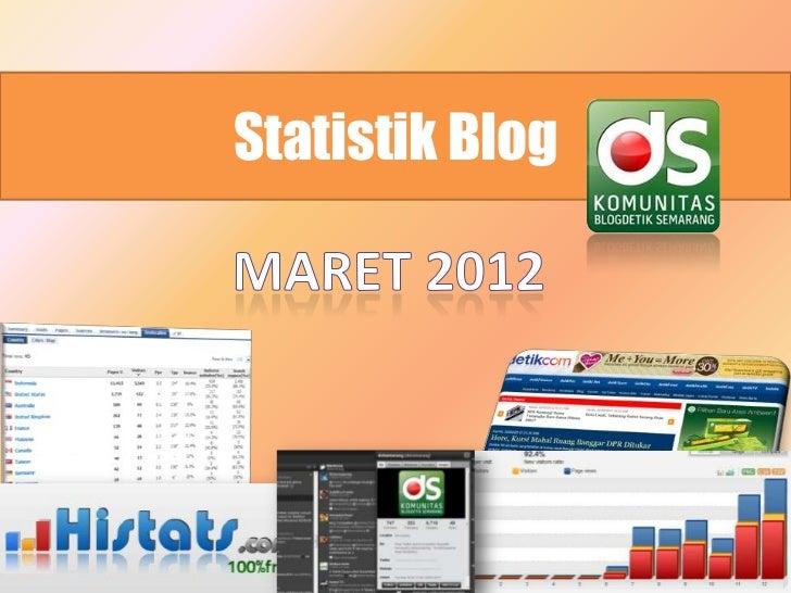 Statistik Dotsemarang maret  2012
