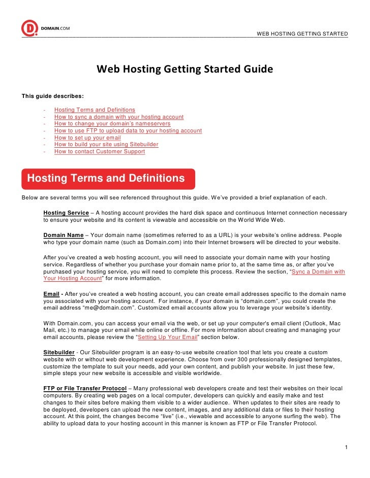 Dotster Web Hosting Service – Quick Start Guide