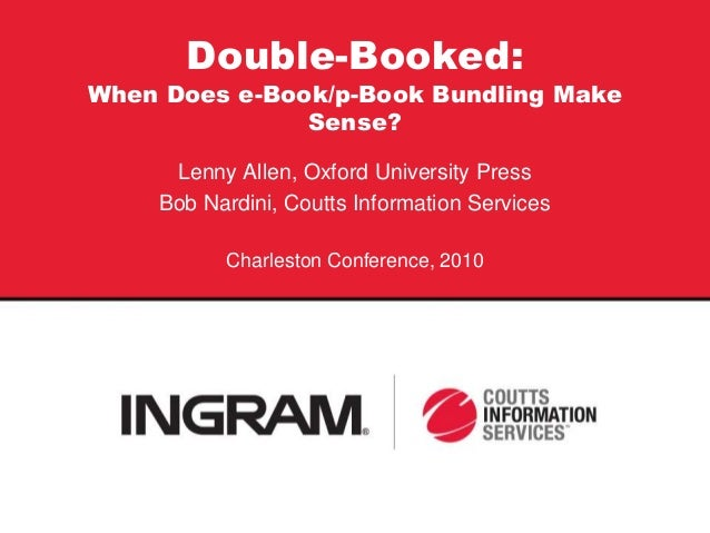 Double Booked: When Does p/e Price Bundling Make Sense?