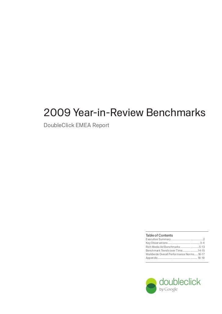 Doubleclick Display Benchmark Report 2009, EMEA, 07-2010