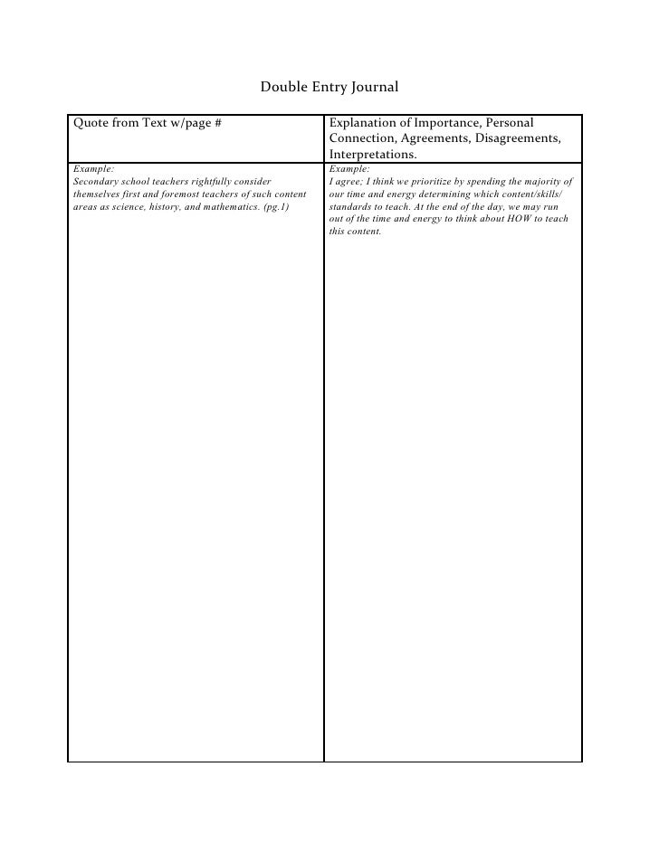 double-entry journal for research paper Use a double-entry journal double-entry journals reflective journals are notebooks or pieces of paper that students use when writing about and.