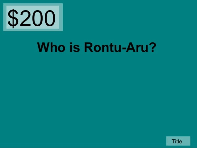 rontu aru from island of the blue dolphins