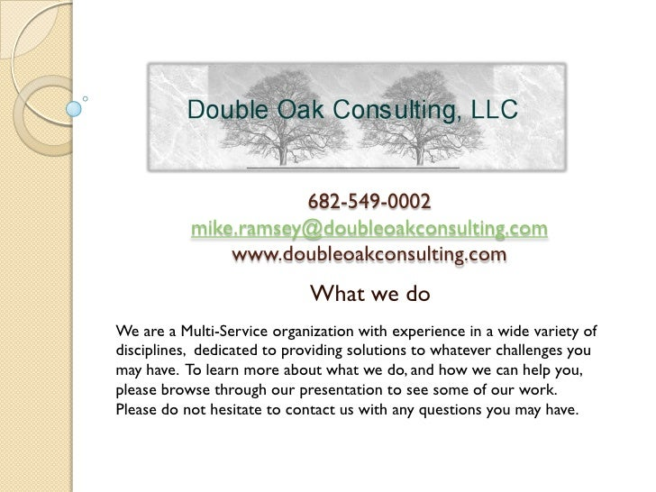 Double Oak Consulting - Who We Are