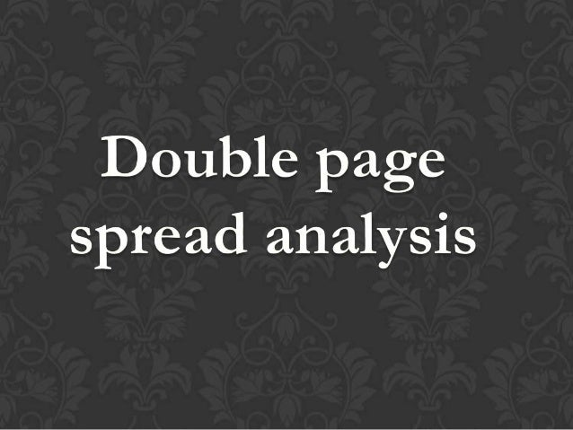 Double page analysis