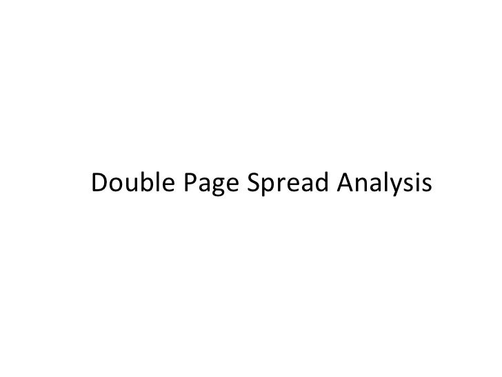Double page spread analysis (main task)