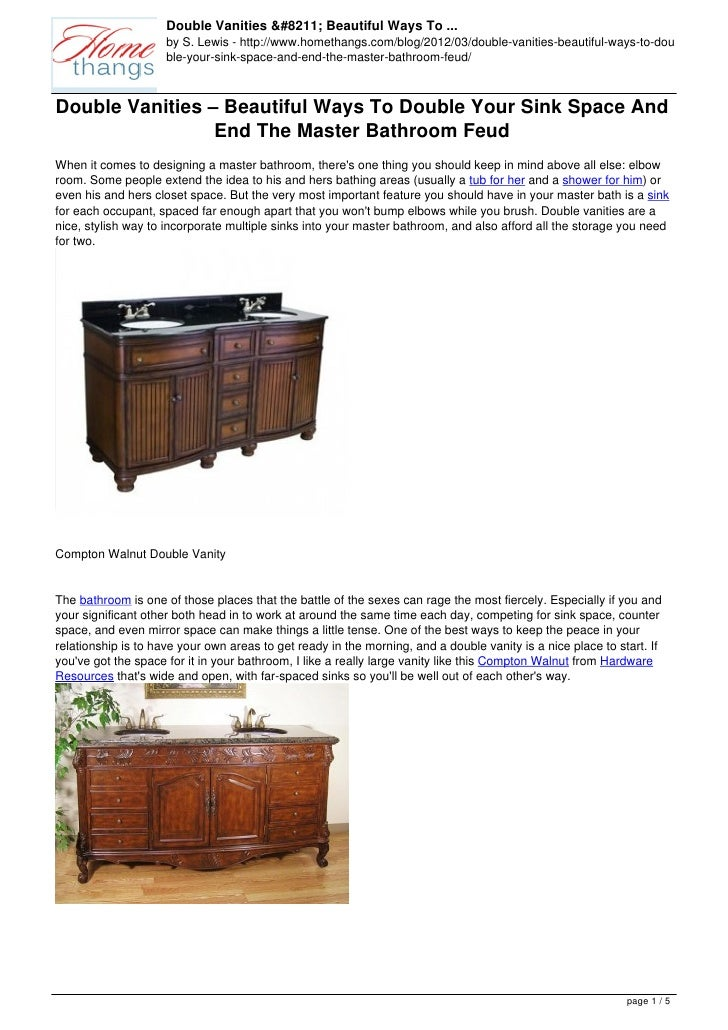 Double Vanities Beautiful Ways To Double Your Sink Space