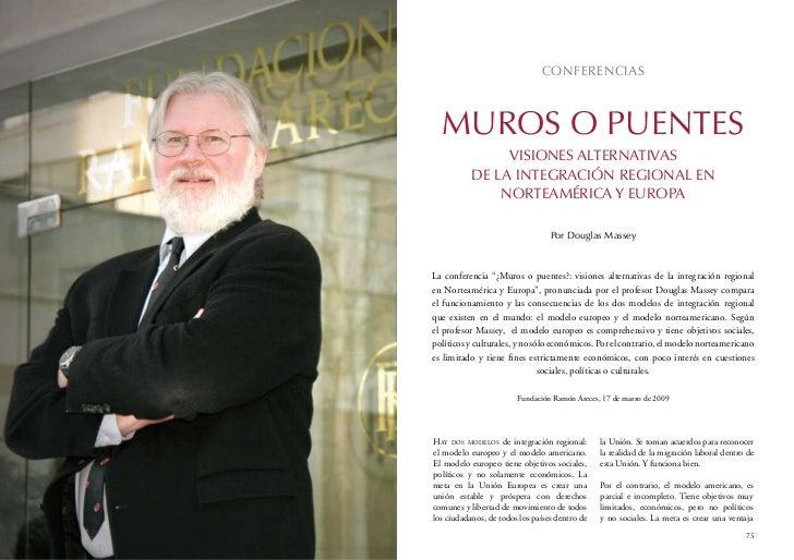 CONFERENCIAS  MUROS O PUENTES                VISIONES ALTERNATIVAS           DE LA INTEGRACIóN REGIONAL EN               N...
