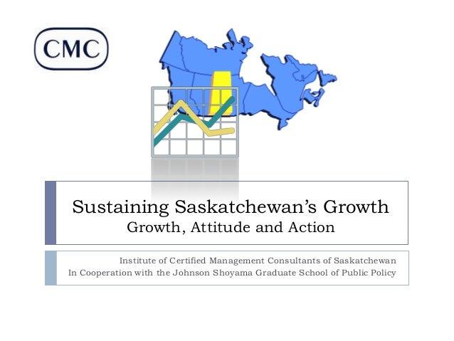 Sustaining Saskatchewan's Growth