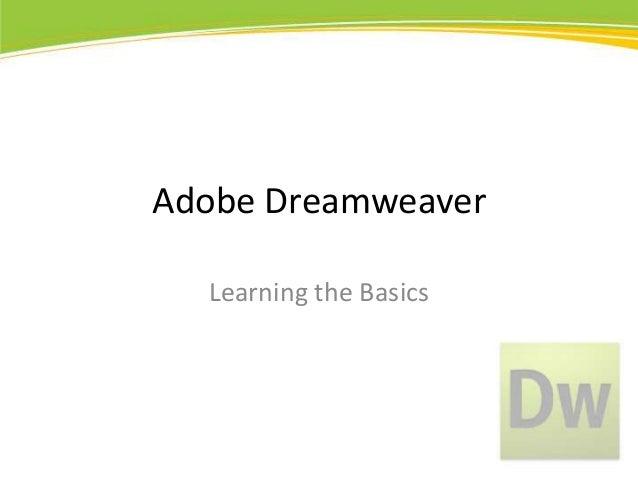 Adobe Dreamweaver CS5 Basics
