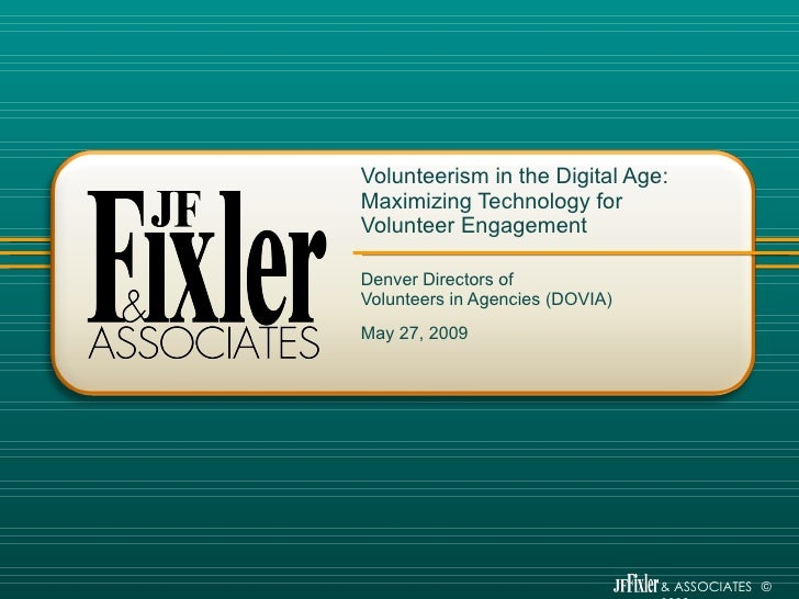 Volunteerism in the Digital Age: Maximizing Technology for Volunteer Engagement