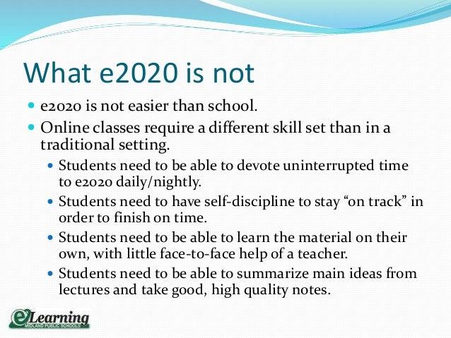 Dow High e2020 orientation