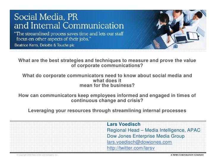 Dow Jones - Social Media, PR and Internal Comms - Webinar, 27 May09