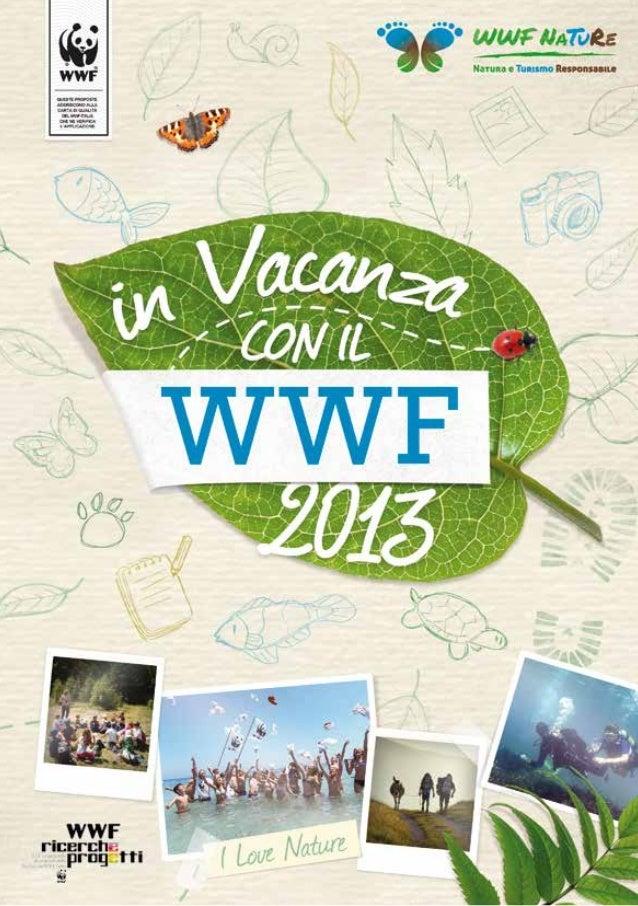 """Catalogo """"In vacanza col WWF 2013"""""""