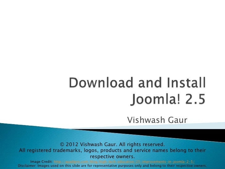 Download and Install Joomla 2.5