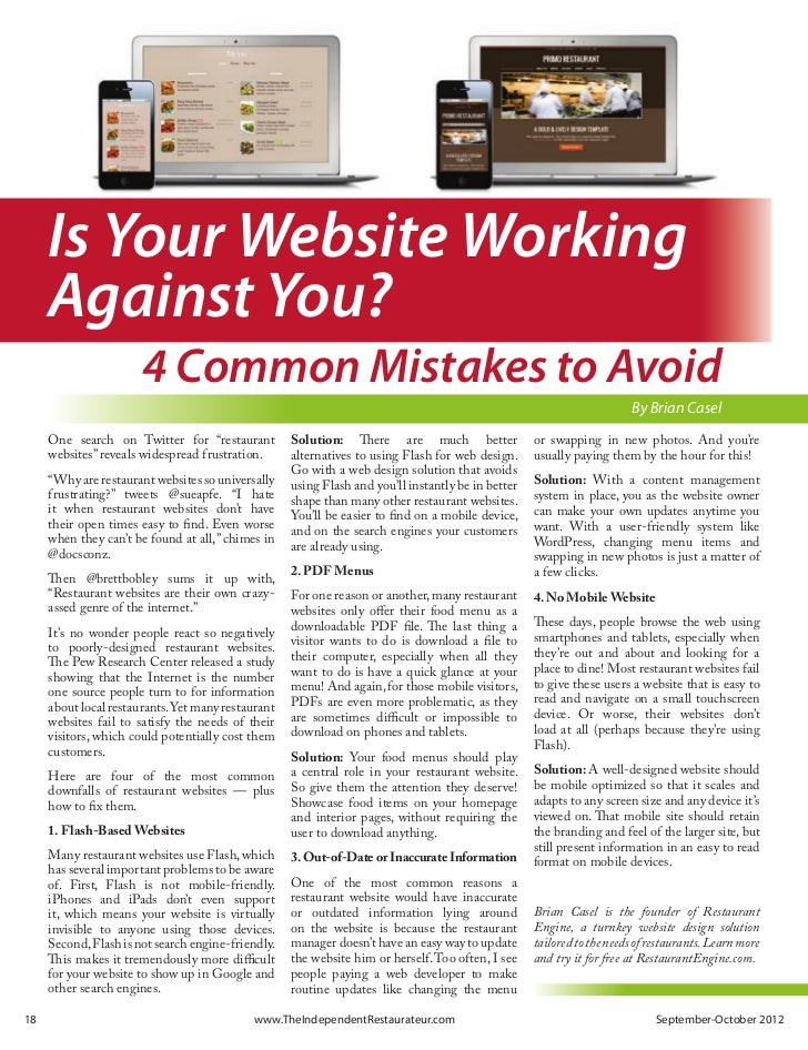 Is Your Website Working       Against You?                         4 Common Mistakes to Avoid                             ...