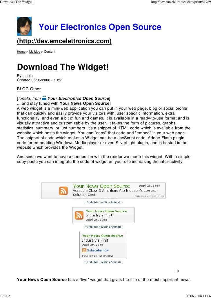 Download The Widget!