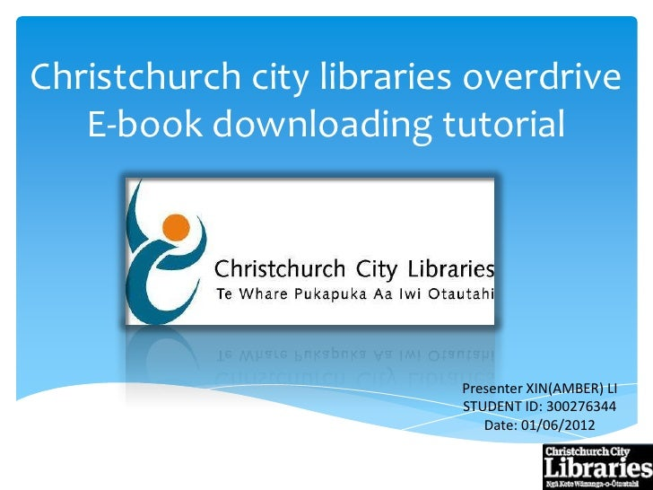 Download e books from the christchurch libraries overdrive resource