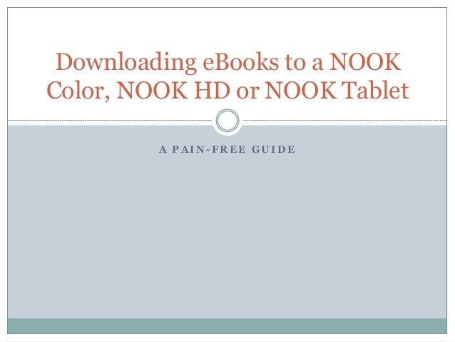 Downloading eBooks to a NOOK Color, NOOK HD or NOOK Tablet