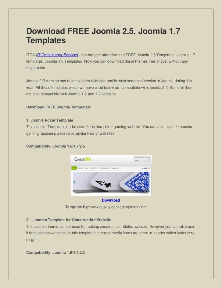 Download FREE Joomla 2.5, Joomla 1.7TemplatesITCS (IT Consultancy Services) has brought attractive and FREE Joomla 2.5 Tem...