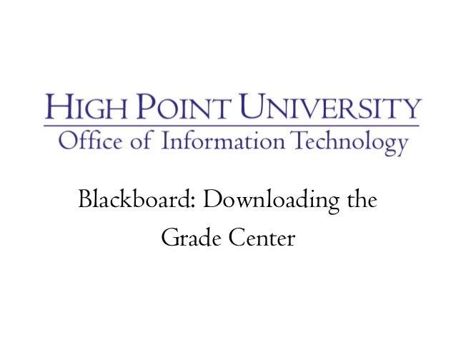 Blackboard: Downloading the Grade Center