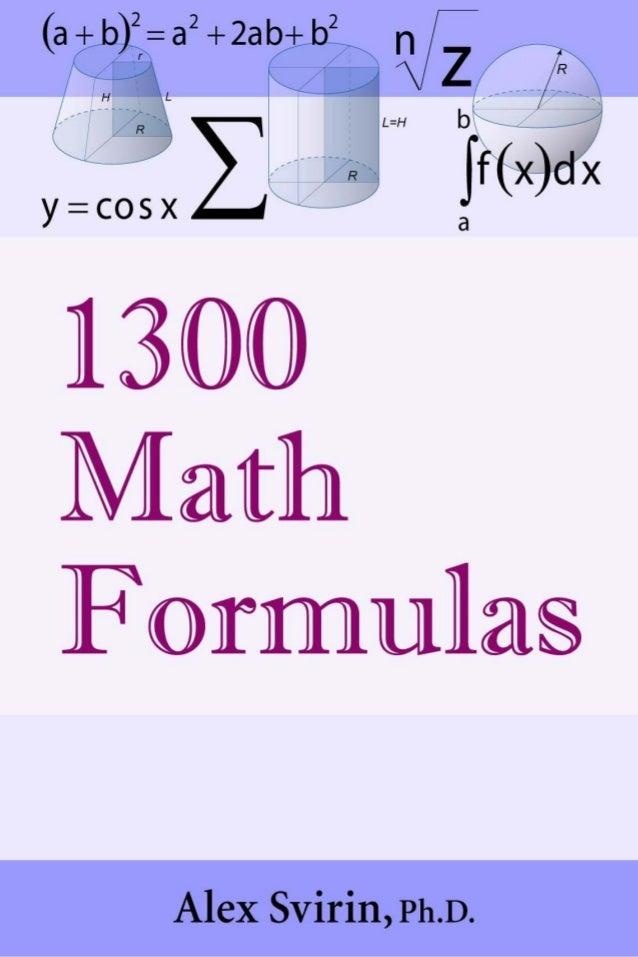 math formulapdf