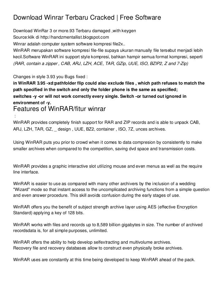 Download Winrar Terbaru Cracked | Free SoftwareDownload WinRar 3 or more.93 Terbaru damaged ,with keygenSource:klik di htt...