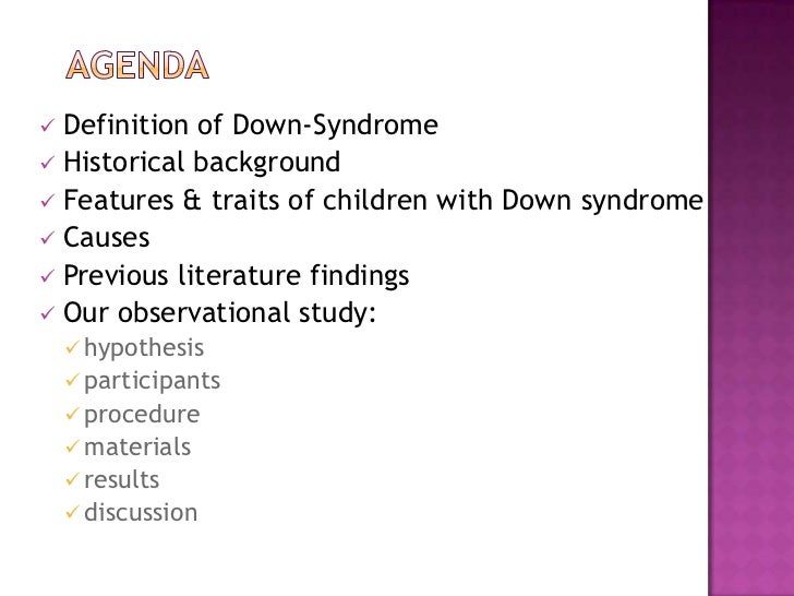 down syndrome definition essay Down syndrome is a chromosomal disorder down's syndrome please use one of the following formats to cite this article in your essay, paper or.