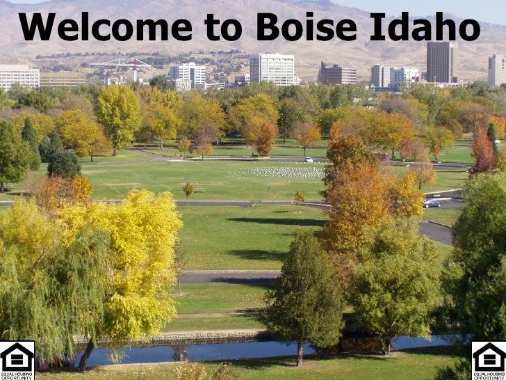 Welcome to Boise Idaho