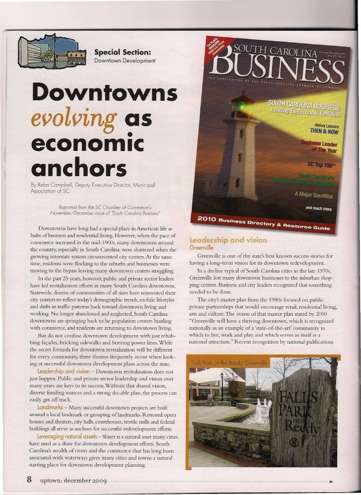 Special Section:                                  Downtown      Development      Downtowns  evolving as           •  econo...