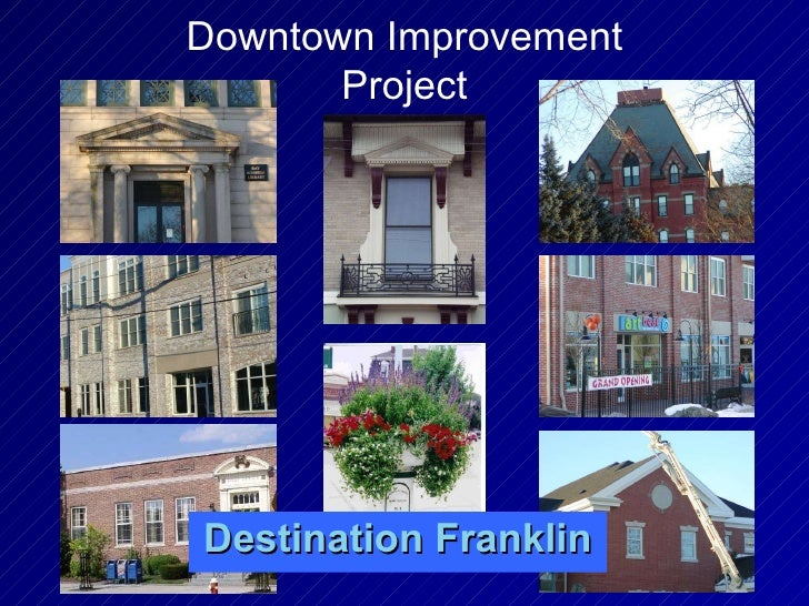 Destination Franklin Downtown Improvement Project